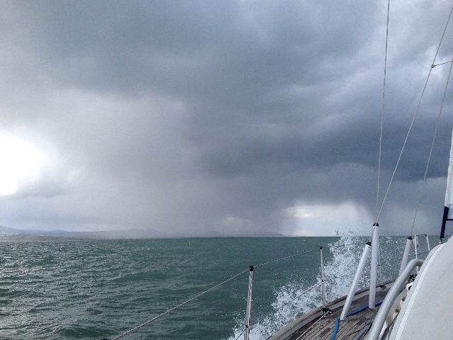 Squalls as we approached Bray Head