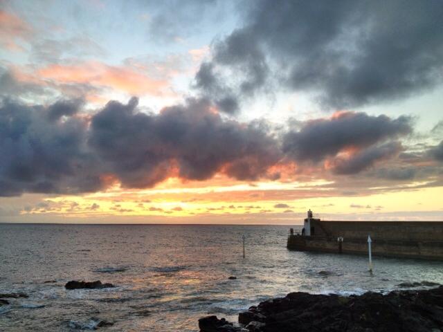 Sunset at Whitehills Marina