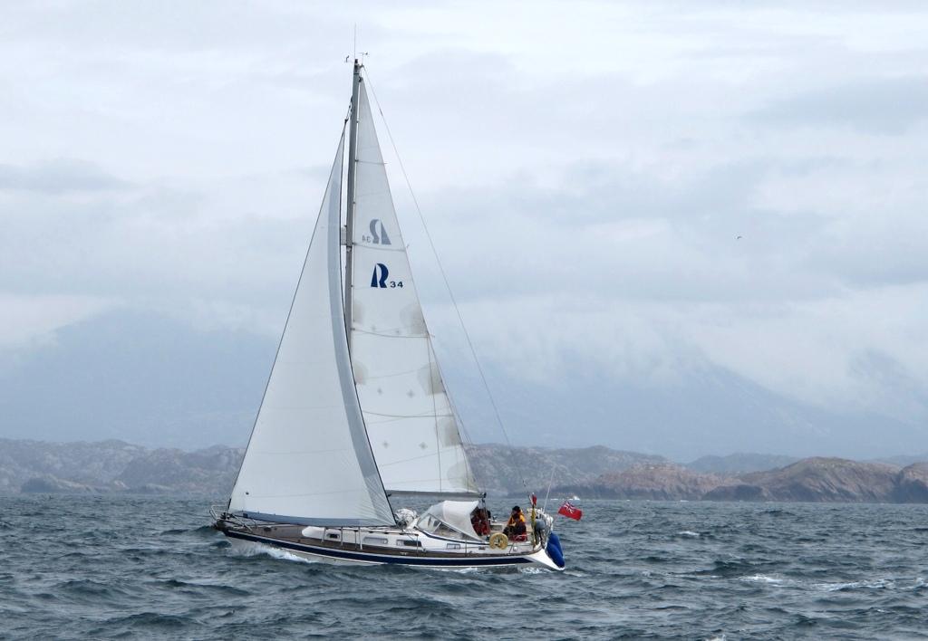 Dawn Treader under full sail in Scotland