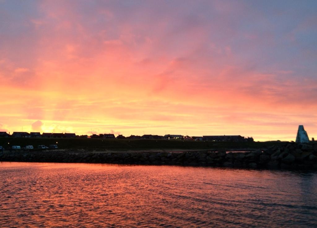 Sunset over Peterhead