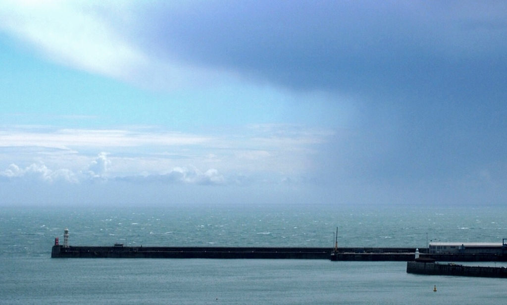 Dover harbour - blowing force six