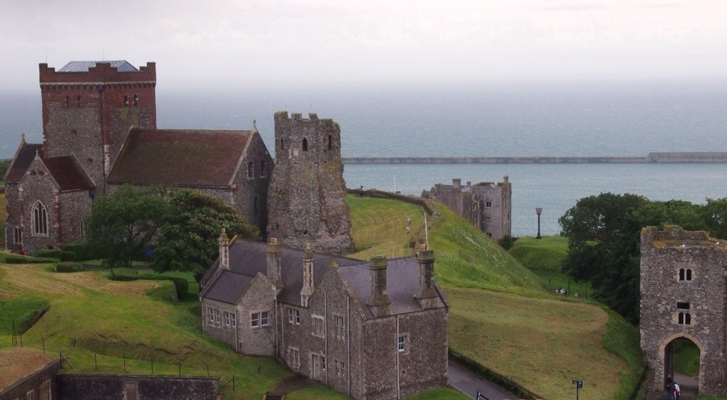 Dover Castle with Roman Pharos