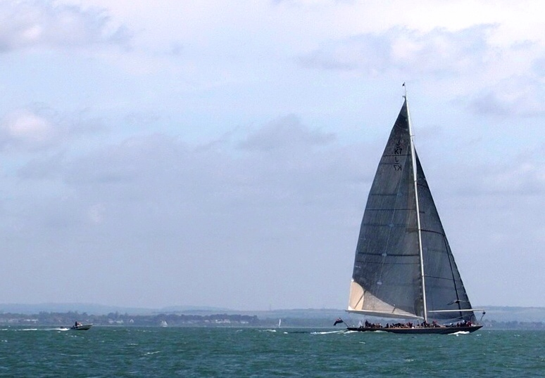 Velsheda - J Class yacht in the Solent