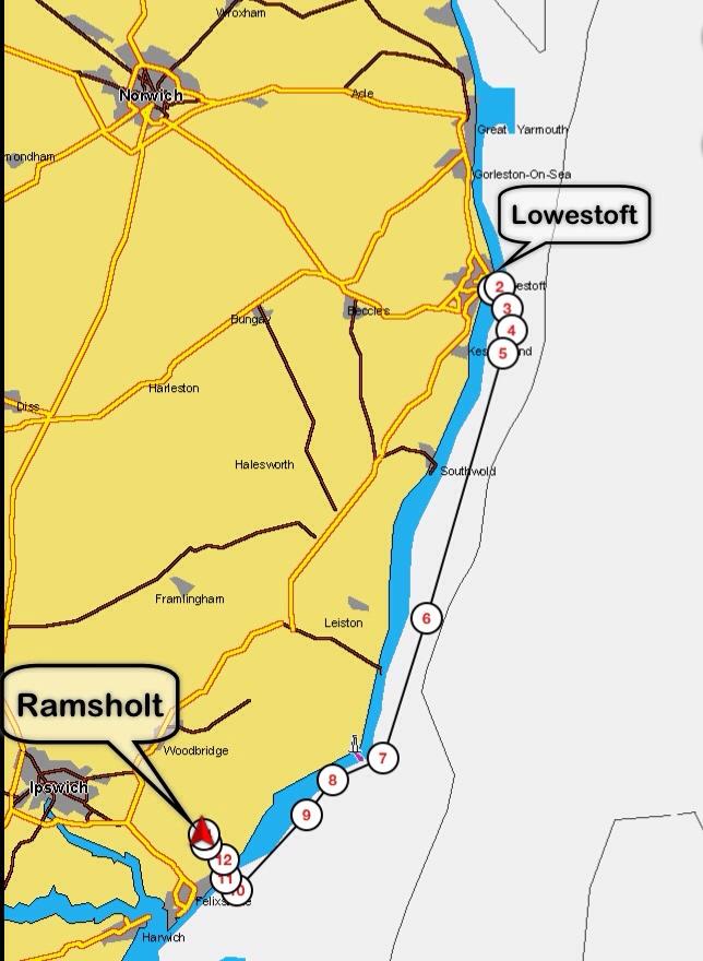 Lowestoft to Ramsholt